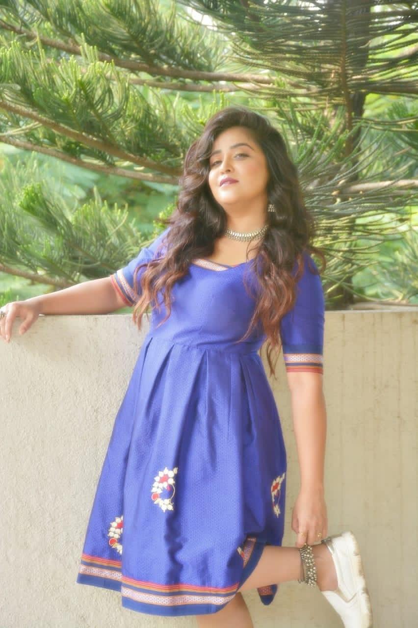 Neha blue dress standing