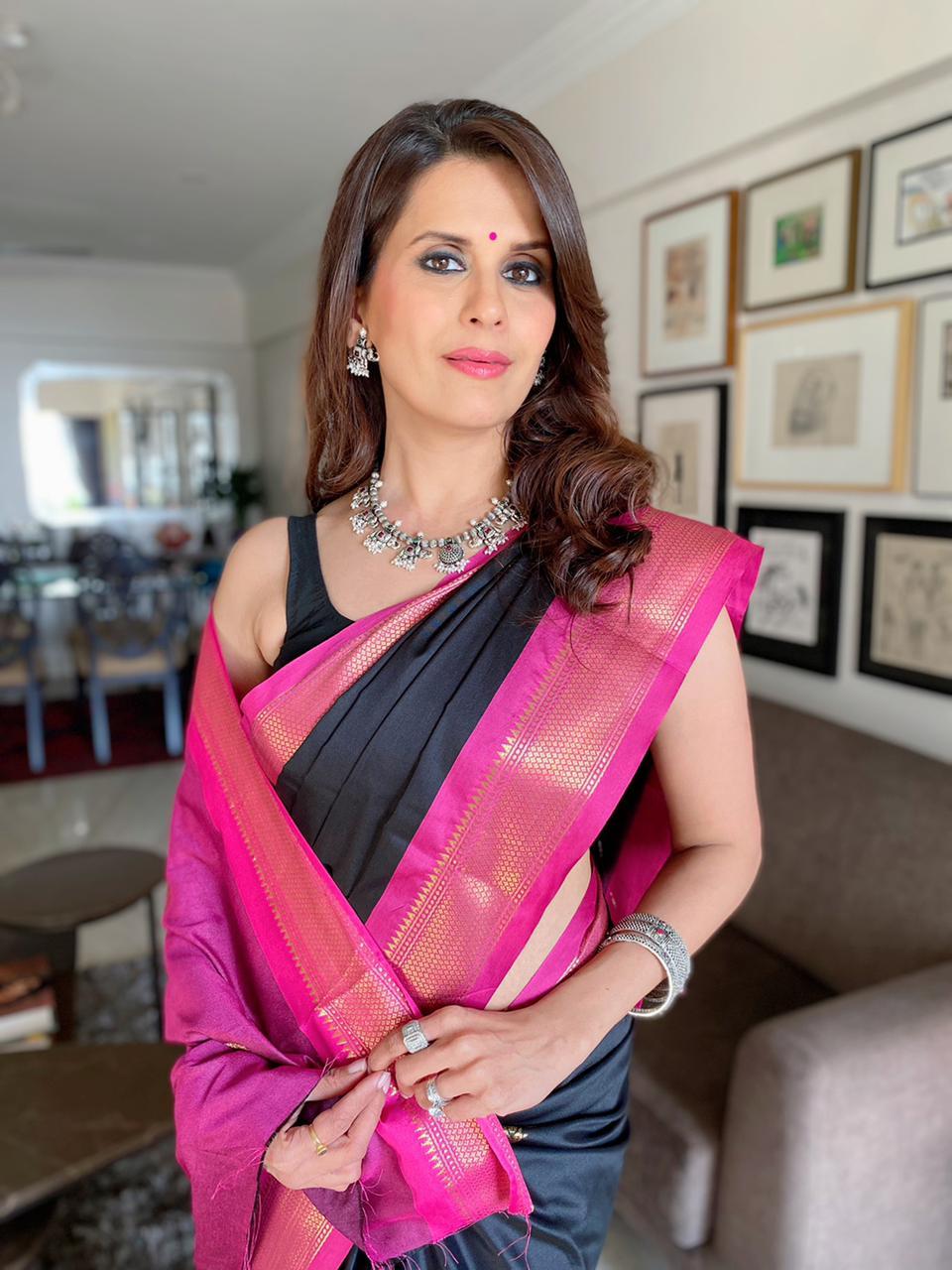 Sonali black saree